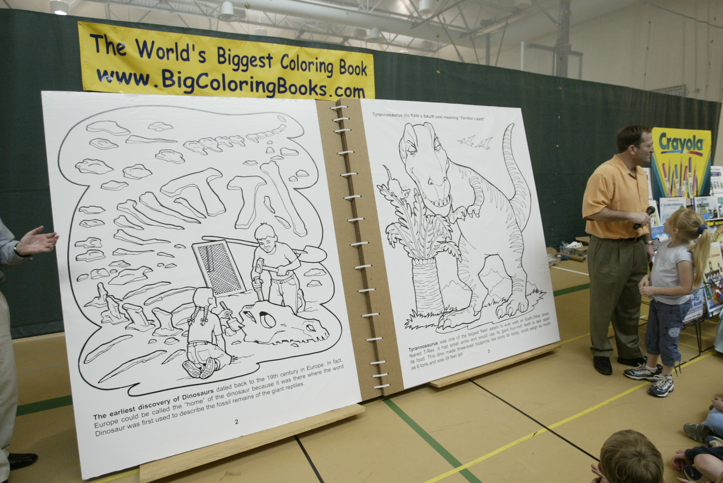 Worlds Largest Coloring Book 8 Foot X 13 When OpenedOwned By Really Big Books