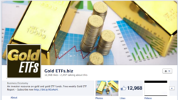gold etf, gold Facebook