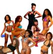 Seen here are some of the confirmed delegates in the 2012 Miss Black Nude Pageant. More delegates are being added to this 20 year old sold out show as scores of entries pour in from across the Diaspor