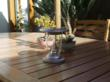 Solar powered table lantern photo