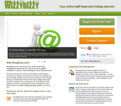 Screenshot of WizzyBizzy.com, Jun 2012