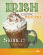 Crimson Cup Irish Mocha Marketing Poster