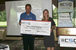 CSG presents a donation to Make-A-Wish