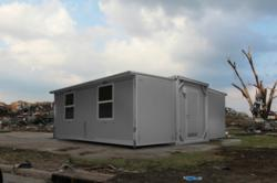 SpaceMax foldable temporary modular buildings for remote operations.