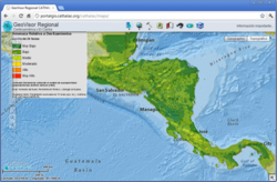 CATHALAC, landslides, disasters, GIS, remote sensing, satellite imagery