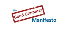 The Good Grammar Manifesto Logo.
