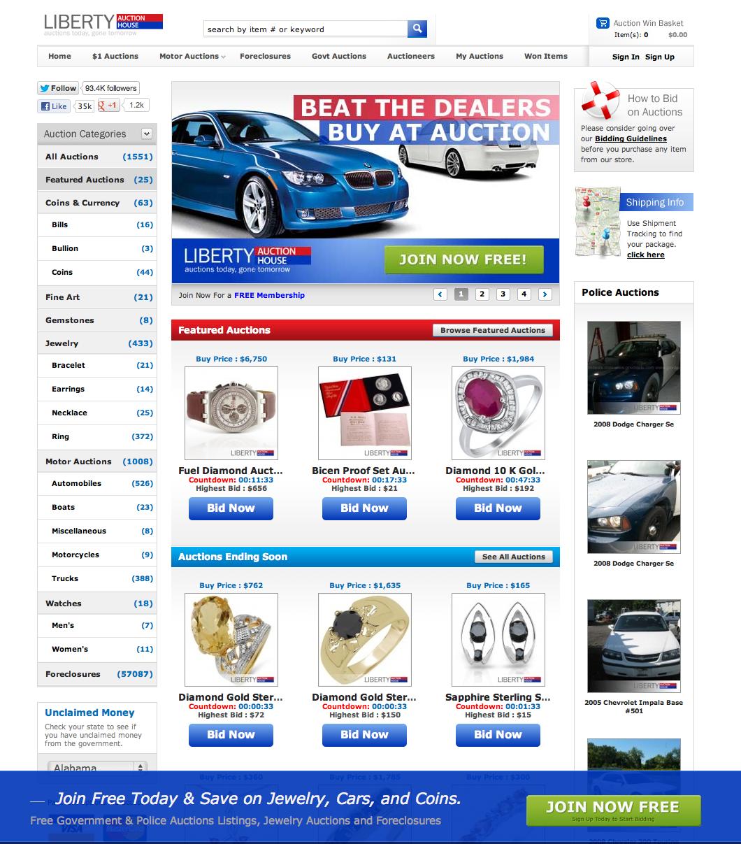 Liberty Electric Cars Liquidation
