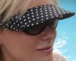 Vizini Strapless Sun Visor slips onto YOUR sunglasses