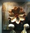 Ceramic lily wall sculpture featured by No Mas