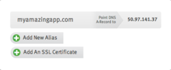 DNS, SSL Cloud Dashboard