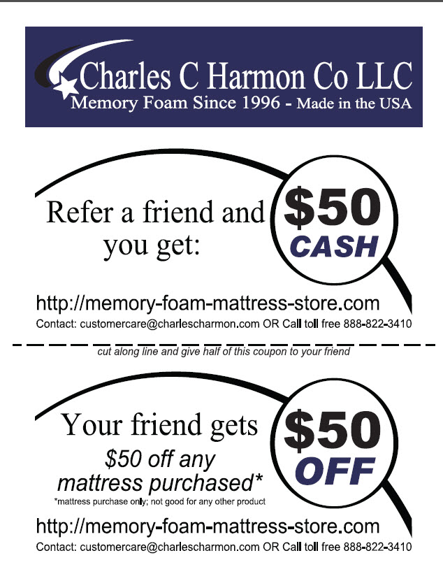 Memory Foam Mattress Refer a Friend Promotion Announced by