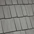 Harbor Gray profile of Bellaforte Shake roofing tiles.