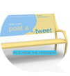 Traveling Park Bench Encourages Passersby To Tweet