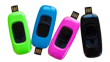 The Zamzee activity meter connects directly to a computer and is available in four colors.