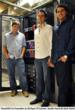 CloudVDI Co-Founders (L-R) Ryan O'Connor, Austin Hurst & Zach Hurst in front of one CloudVDI Infrastructure Rack