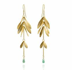 Catherine Zoraida Green Aventurine Ash Earrings – GBP 250