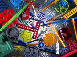 K'NEX parts manufactured at The Rodon Group facility