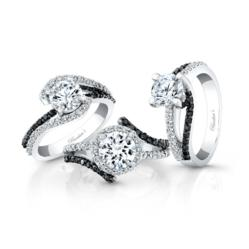 Black Diamond Engagement Rings by Barkev's