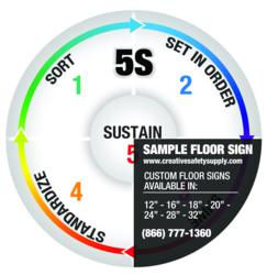 Custom industrial floor sign supplies