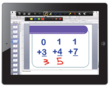 With Splashtop Whiteboard and an iPad, a student can solve math problems and interactively share with the teacher and class.