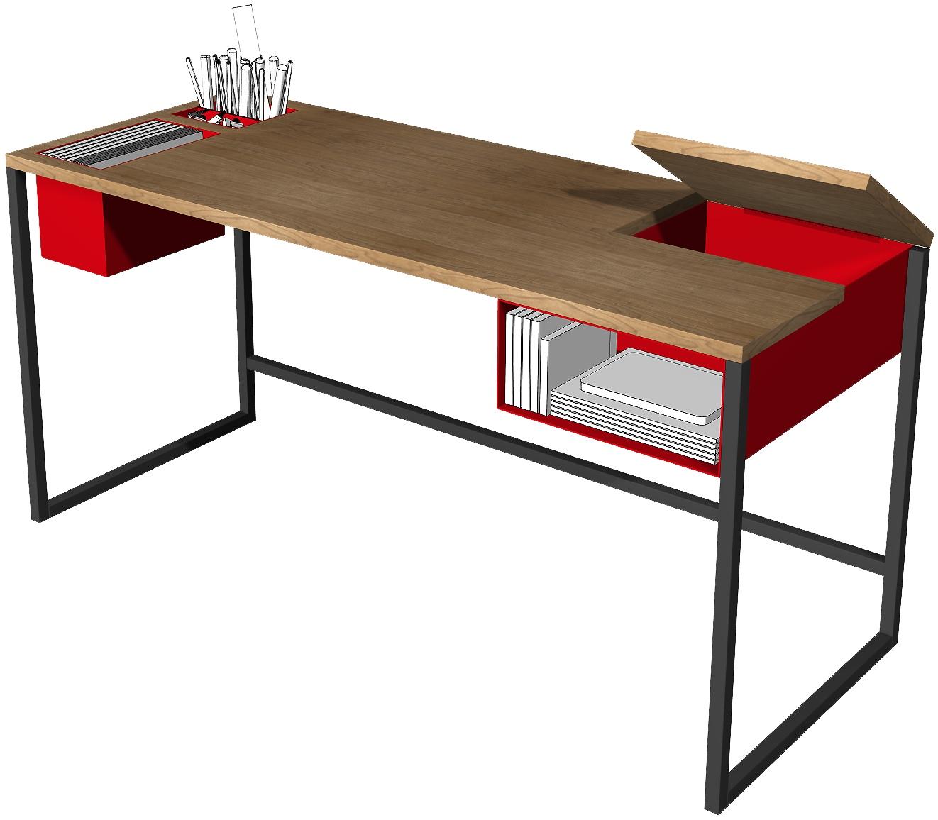metal desk legs - metal and wood desk