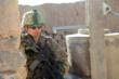 A U.S. soldier wearing an ACH helmet and Revision Sawfly Eyewear provides security in the village of Dahanar, Wardak province in Afghanistan. Photo courtesy U.S. Army.