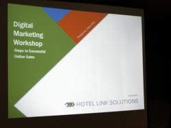 Preparing for the Hotel Link Solutions Digital Marketing Workshop in Manila, Philippines.