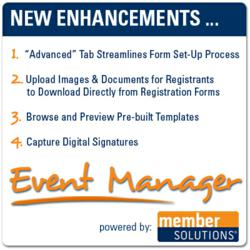 Member Solutions Launches New Release of Its Online Event Registration Software, Event Manager