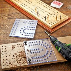 Rockler Introduces New XL Cribbage Board Template Kit and