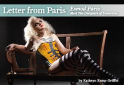 Image from the upcoming Letter From Paris featuring three lingerie designers from Esmod's Lingerie Program