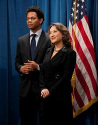 Assemblymember Mary Hayashi with former San Francisco 49er Eric Davis