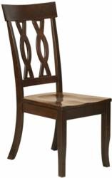 """The beautiful Elise Dining Chair features a """"criss-cross"""" back design"""