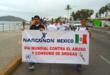 Narconon Mexico Marching in Mazatlan during UN Day