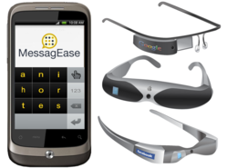 With Fewer, Larger Keys, MessagEase Is the Ideal Touchscreen Keyboard for Any Virtual Glass!