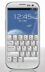 Samsaung Galaxy S3 with MaxiKeys