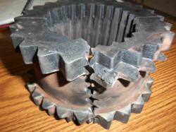 Photo of damaged coupling found during a shaft alignment