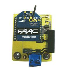 FAAC WMS100 Dual motor radio connection