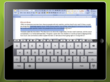 Screen shot of Word document being edited with Splashtop for Good Technology with on-screen keyboard on an iPad.