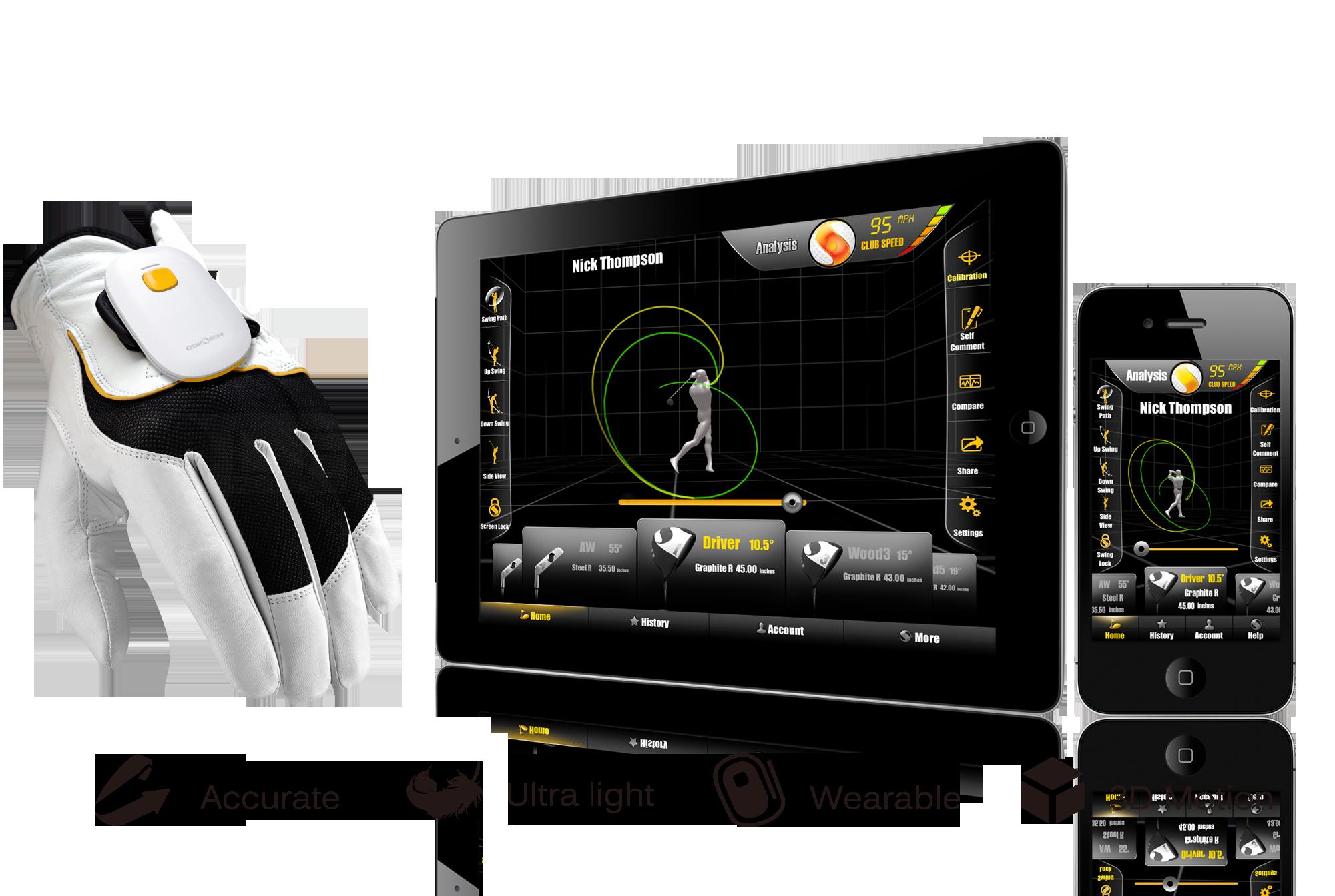 GolfSense the Revolutionary Glove Based 3D Golf Swing Analyzer