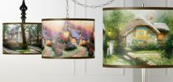Giclee art shades featuring the work of artist Thomas Kinkade. Available for pendants, swag lights, table lamps and more.