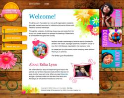 ErikaLynn.org non-profit website design by AIMG.com