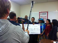 On the set: AHF video shoot at San Diego Organizing Project