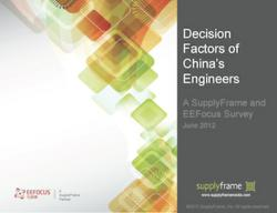 Decision Factors of China's Engineers report