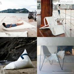 Dvelas Upcycled Sail Cloth For Contemporary Furniture
