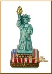 Statue of Liberty Limoges box by Beauchamp Limoges www.LimogesBoxCollector.com
