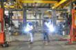 welding, side dump trailers, radius steel fabrication, smithco, steel fabrication, mining, steel, welders, roll over positioner
