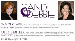 Sandi Clark and Debbie Miller of First Team Real Estate