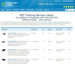 Position Logic has an extensive GPS tracking device library