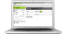 Screen shot showing how to pay rent online with RentShare