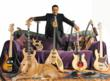 Jazz Legend Stanley Clarke with his arsenal of bass guitars.